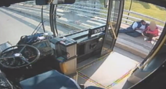Bus Driver Saves Woman From Jumping Off Bridge - YouTube