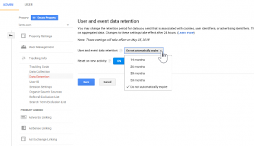 Google Analyticsのデータ保持期間が26か月へ!